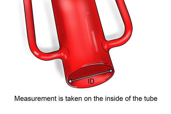 the size of a post rammer is determined by the inside diameter of the steel tube