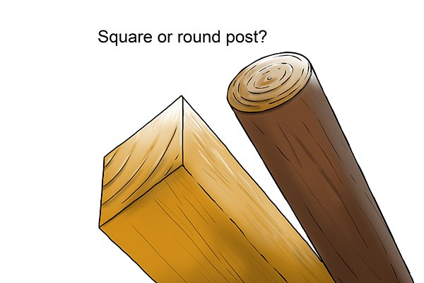 consideration should be given to the shape and size of your chosen post