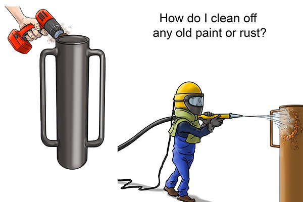 there are two ways to remove old paint or rust from a post rammer are abrasive blasting or by hand