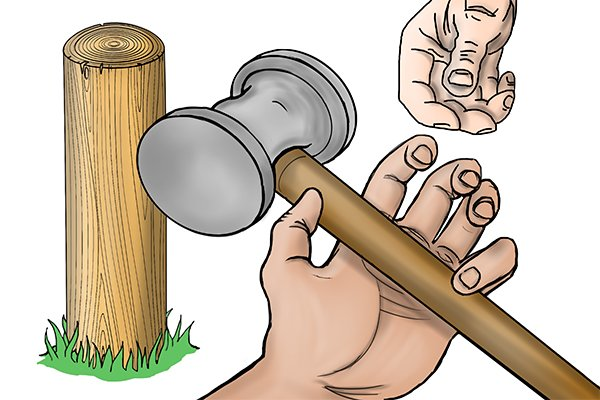 take the task of knocking in the fence post in turns with your co-worker, it can be quite tiring on your arms, back and shoulders