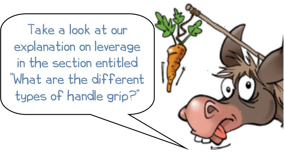 "WD says ""Take a look at our explanation on leverage in the section entitled ""What are the different types of handle grip?"""