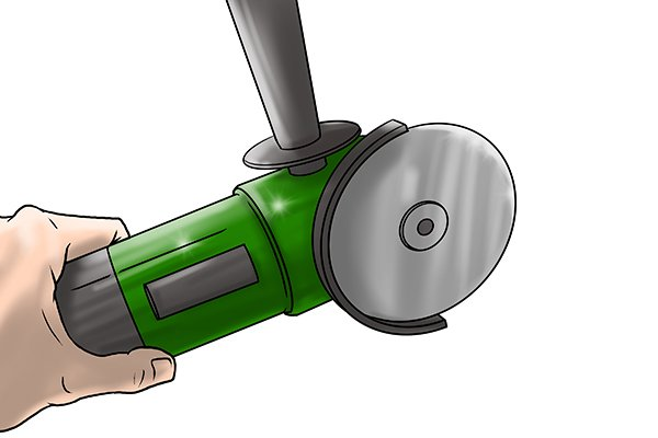 Hand held angle grinder