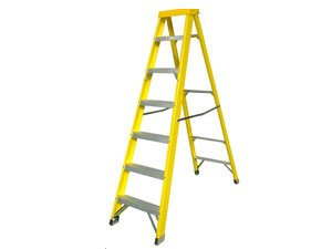 Typical step ladder with 7 steps