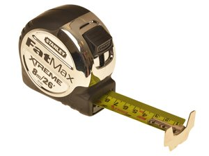 hand tool retractable Metric and Imperial tape measure - Stanley Fatmax Xtreme 8m 26""