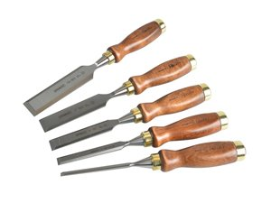 Hand Tools - quiality wood chisel set with wooden handles and brass ferules for woodworking