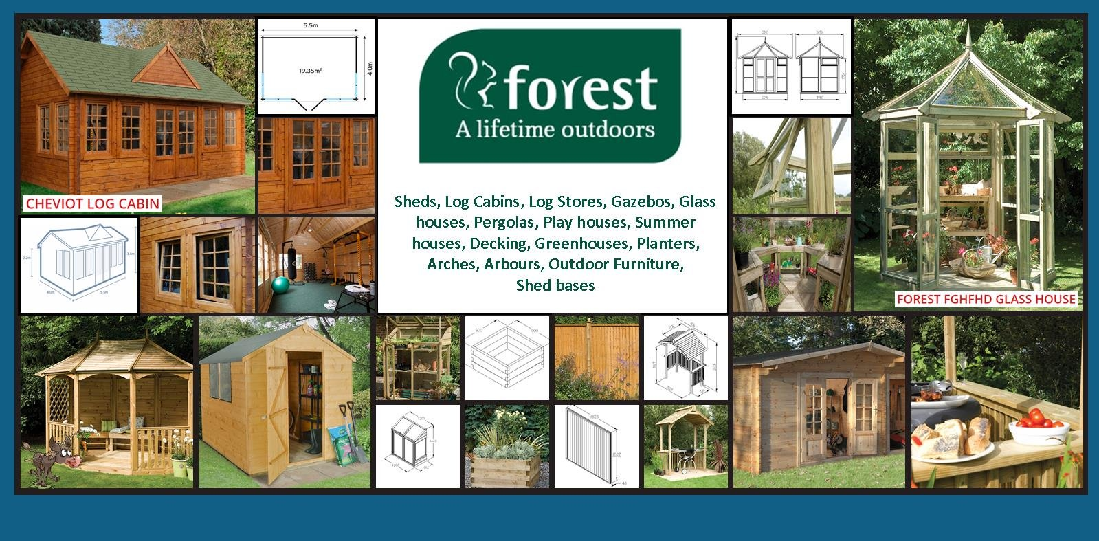 Wonkee Donkee Forest Garden for your garden storage and recreation. For Sheds, Workshops, Summer Houses, Glasshouses, Playhouses and other garden furniture and features.
