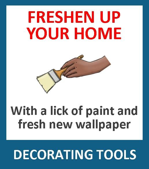 Time to decorate your house? We have all the tools you need to decorate your home. Paint kettles, rollers, paint brushes, dust sheets, ladders, steps, paint kettles, wood stain and varnishes and more.