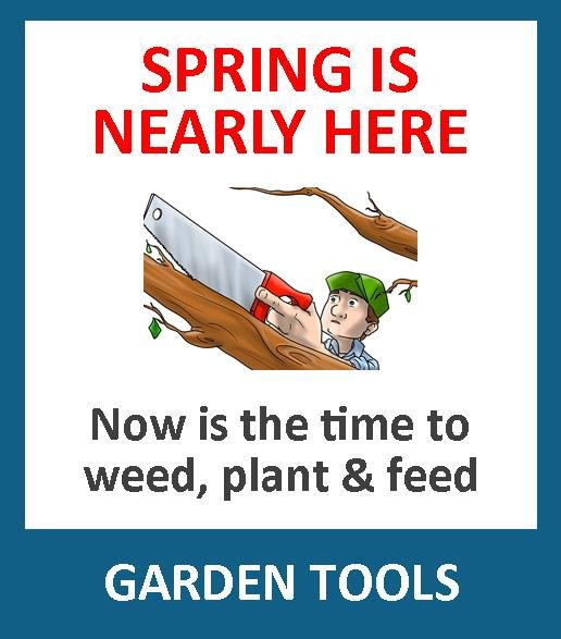Time to sort the garden after the winter cold & rain? With a wide range of garden tools, including spades, shovels, forks, rakes, border tools, safety wear, pruning tools, spare parts, lawn mowers, leaf blowers, chainsaws, hedge trimmers, and shredders etc, you can be sure that we have the tool for you.