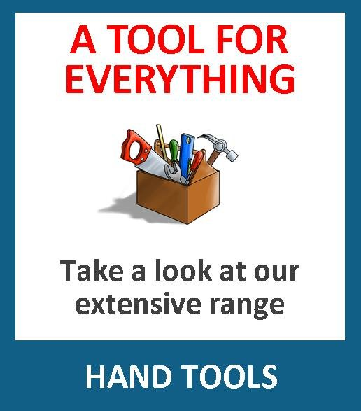 Need a hand tool? We have what you want. We supply screwdrivers, chisels, hammers & mallets, axes, punches, knives, levels, trowels, crow bars, picks, squares, micrometers, verniers, rules & tapes, files & clamps, plumbers tools, engineers tools, decorater tools, mechanics tools, builders tools, carpenters tools, tilers tools, wood working tools, metal working tools, whatever you need, we are likely to have it!
