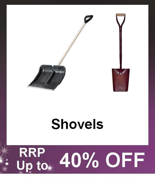 Up to 40% Off Shovels and Snow Shovels, all steel shovels, shovel handles