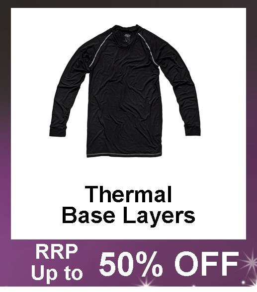 Up to 50% Off Thermal Base Layers, thermal vests, Thermal Long Johns, Hand Warmers.