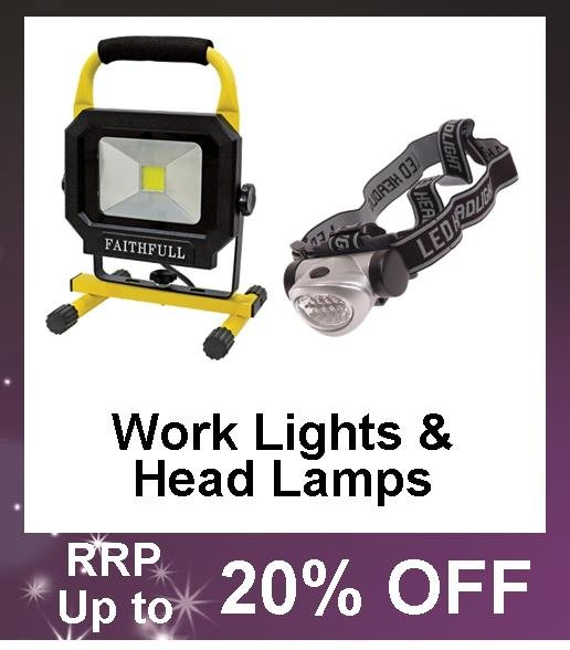 Up to 40% Off Work Lights and Head Lights, lamps and LED's