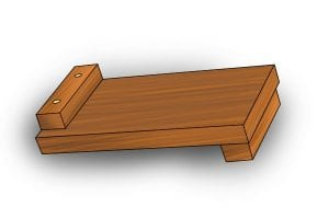 Bench hook secured together using dowels