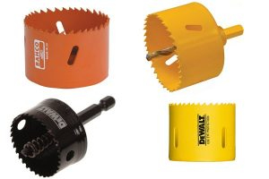Different models of hole saws available.