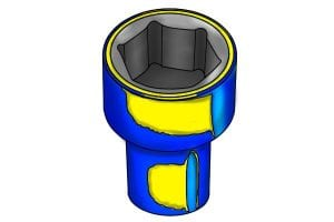 Plastic insulated coatings of sockets