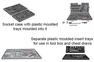 Plastic moulding tray