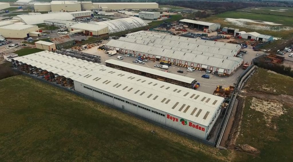 Overhead view of boys and boden builders merchants