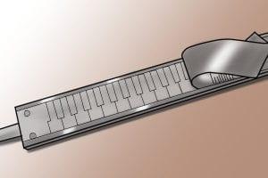 The inside of a digital caliper.