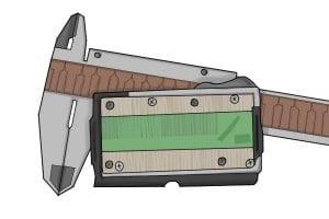 Digital calipers have clear display screens.