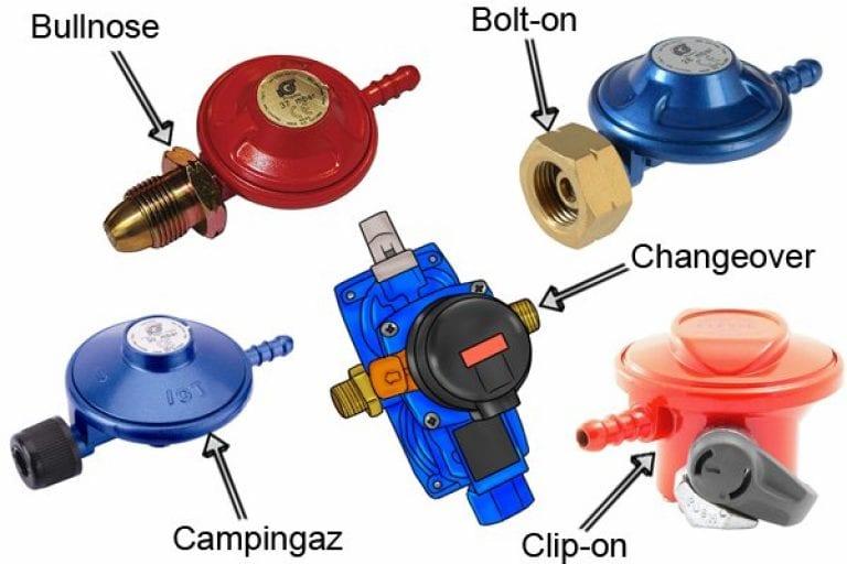 Different types of gas regulators