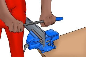 How to hold a draw file correct and securely