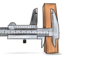Measuring step accurately using a vernier caliper.