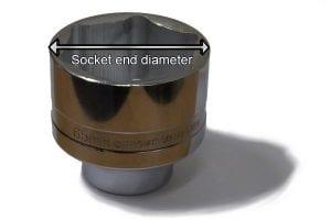 Socket end diameter