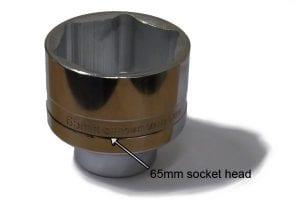 65mm socket size head