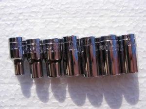 Different sized socket sets