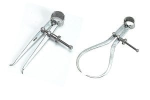 Detailed image of a jenny caliper and spring point caliper.