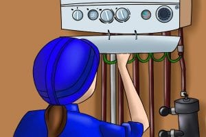 Turn on the boiler or gas appliance