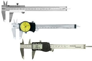 Examples of the different types of caliper available.