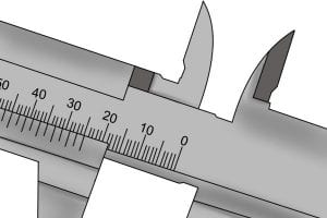 Measuring components of the vernier scales.
