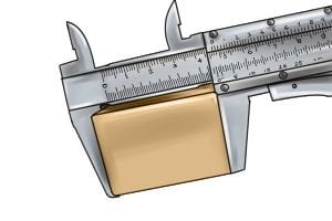 Vernier caliper extremely accurate measuring capability.