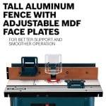 BOSCH Benchtop Router Table RA1181 tall aluminium fence