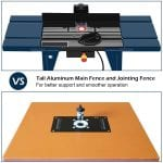 Goplus Electric Aluminum Router Table main and jointing fence