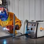 Hobart Handler 210 MVP MIG Welder being operated