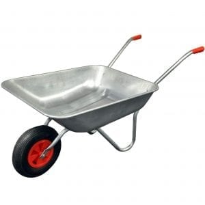 Wheel barrows are not only great for gardening but also carrying tools or rubble whilst you work.