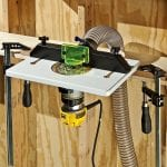rockler trim router table on bench