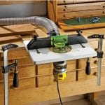 rockler trim router table in use