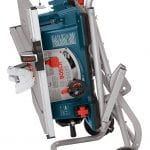 Bosch Power Tools 4100-10 Tablesaw folded for portability
