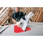 Bosch Professional GTS 10 J Corded 240 V Table Saw in use