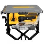 DEWALT DWE7480 Table Saw on stand