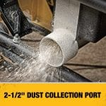 DEWALT DWE7491RS 10-Inch Table Saw 2.5 inch dust port collection