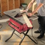 SKIL 3410-02 10-Inch Table Saw with Folding Stand in use