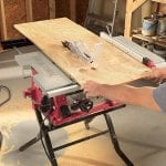 SKIL 3410-02 10-Inch Table Saw with Folding Stand cutting wood