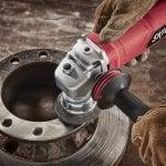 SKIL 9296-01 Paddle Switch Angle Grinder in use