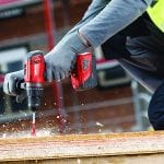 Hilti SF 6H-A22 Cordless Hammer Drill Driver drilling through wood