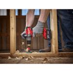 Milwaukee 2704-20 Hammer Drill drilling through wood