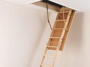 TB Davies 3-Section Wooden Loft Ladder
